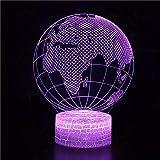 Sitio dominante base de grieta creativa lámpara de mesa pequeña acrílico luz nocturna multicolor luz de visión 3D luz LED decoración creativa lámpara de mesa pequeña