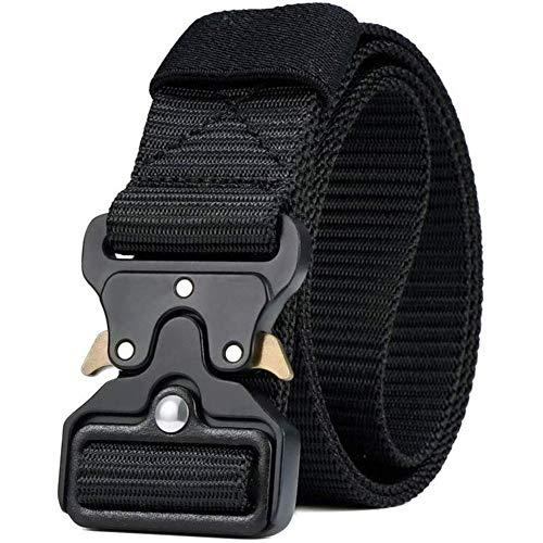 BESTZY Taktischer Gürtel nylongürtel herren schwarz Taktischer Heavy Duty Gürtel Verstellbare Outdoor Sportarten mit Schnellverschluss Metallschnalle