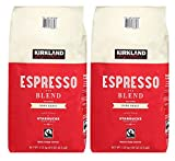 Kirkland Signature Whole Bean Coffee | Roasted by Starbucks | 40 Ounce - 2.5 LBS Espresso Blend, 2 Pack
