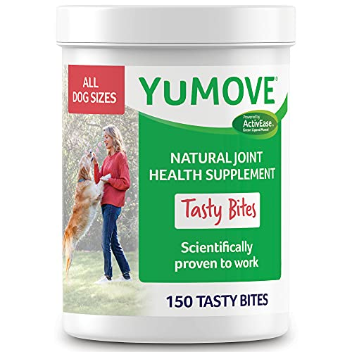 YuMOVE Dog Joint Supplement  Hip and Joint Supplement for Dogs with Glucosamine  Hyaluronic Acid  and Green Lipped Mussel and Omegas  Relief for Dog Hip and Joint Aches and Stiffness - 150 Bites