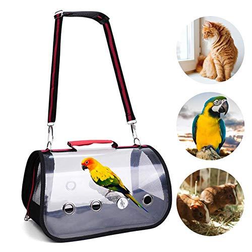 Chuanfeng Vogel Transportbox Vogelkäfig Mit Ständer, Transparente Ausflugstasche Für Katze Und Hund, 32 X 17 X 18 cm