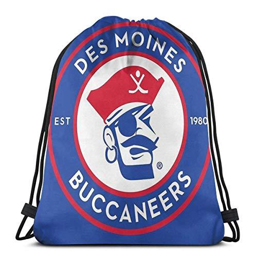 AOOEDM Des Moines Freibeuter Hockey Sport Sackpack Kordelzug Rucksack Gym Bag Sack