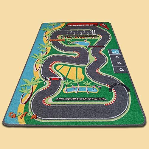 TAPITOM Tapis Enfant Circuit de Voiture - 95 x 133 cm