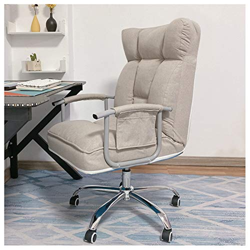 DXZ-Design Swivel Chair Home Office Furniture Ergonomic Recliner Chair - High-Back Desk Chair with Lumbar Support - Height Adjustable Seat, with Headrest, Gray