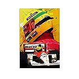ZHILIAO Ayrton Senna Legend F1 Poster dekorative Malerei
