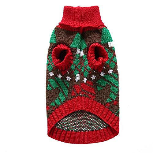 CHENSHJI huisdier kleding huisdier kerst trui schattig comfortabel huisdier gebreide coltrui warme hond jas, M, Groen