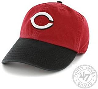 MLB Cincinnati Reds '47 Brand Clean Up Adjustable Cap-Road Style, One Size, Red