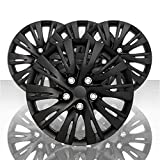 Auto Reflections Set of 4 16' 10 Split Spoke Wheel Covers for 2012-14 Toyota Camry - Gloss Black