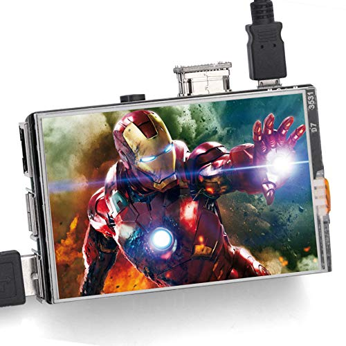 OSOYOO Touchscreen LCD-Monitor HDMI Display 3,5' Zoll TFT-Audioausgang mit Stylus und Anleitung für Raspberry Pi 3 Modell B+