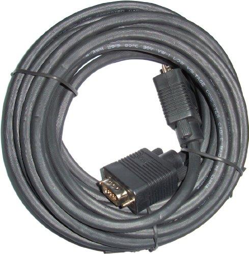 3Go CVGA10MM, Cable VGA, D-Sub, 10 m, Negro