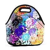 Paint Color SplashLonchera de neopreno reutilizable portátil bolsa de almuerzo ligera para mujeres niñas y hombres niños bolsa de almuerzo bolsas de almuerzo