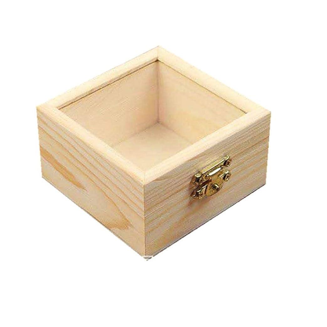 啓示スティック無線プレゼンテーション用木製エッセンシャルオイルボックスパーフェクトエッセンシャルオイルケース 香水フレグランス (色 : Natural, サイズ : 8.5X8.5X5CM)