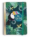NICI- Tucán Tropical Cuaderno, Color Verde (45422)