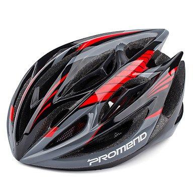 ¿Enmendado? Casco de Bicicleta de Carretera MTB de Ajuste Seguro con 19 Rejillas ultraligeras 260 g de Moldeado Integral, 60 cm
