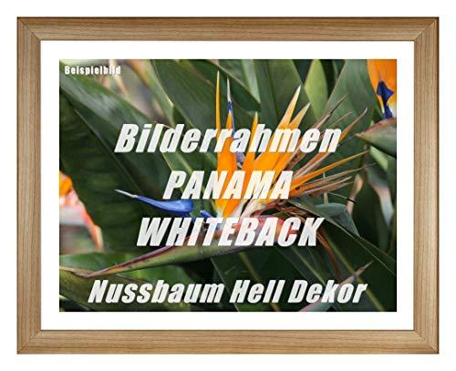 Fotolijst panama whiteback 61 x 91 cm notenhout licht decor met witte achterwand en acrylglas antireflex 1 mm