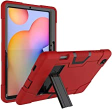 FanTing for Huawei MediaPad M6 Turbo 8.4 case,With bracket,all-inclusive design, three-layer ultra-thin shock-proof and durable Protective Case for Huawei MediaPad M6 Turbo 8.4-Red+Black