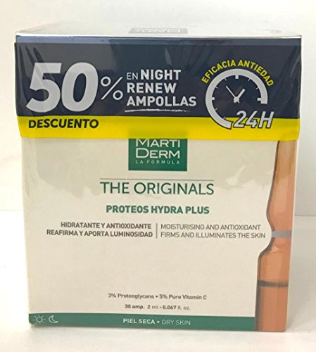 MARTIDERM PROTEOS HYDRA PLUS 30 AMPOLLAS + 10 AMPOLLAS NIGHT RENEW
