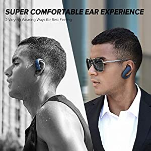 GGMM Touch Control True Wireless Earbuds with Microphone and Volume Control Bluetooth 5.0 IPX7 Wireless Earphones, In Ear Wireless Headphones with 36 hrs Playing Time (with Charging Case)