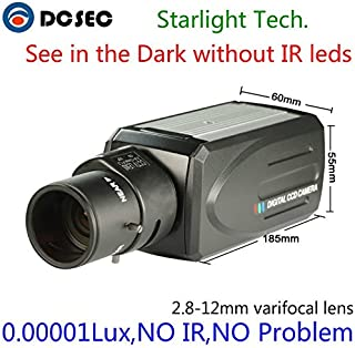 HD 700TVL 960H Low Light Night Vision Full Color Analog CCTV Box Camera Zoom Varifocal lens 2.8-12mm