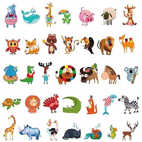 Ooopsiun Zoo Animals Temporary Tattoos for Kids- 100 Tattoos, Animals Birthday Party Decorations Supplies Favors for Kids Boys Girls