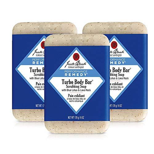 Jack Black - Turbo Body Bar Scrubbing Soap, 6 oz Pack of 3