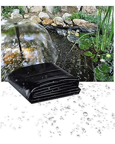 Yibcn Teichfolie Schwarz HDPE Teichfolien für Koiteiche, Flexibler Wassergarten robuste Teichfolie, 8x8m 10x10m 10x20m