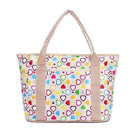 WOMJIA stilvoll Multifunktions Leichtbau Neckline Bag Wickeltasche/Babytasche inkl. verstellbarem Schultergurt