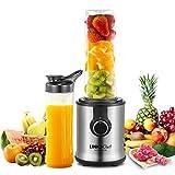 Licuadora personal LINKChef 350W jarra licuadora 600ml* 2 botellas portátiles Mini Juicer para batidos, batidos, frutas...