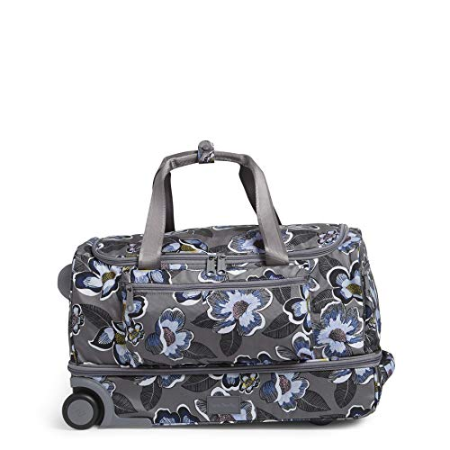 Vera Bradley Recycled Lighten Up Reactive Foldable Rolling Duffle Luggage, Blooms Shower