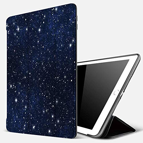 iPad 9.7 inch 2017/2018 Case/iPad Air/Air 2 Cover,Composition with Dots Night Sky Theme Abstract Style Arrangement Cosmos Concept,PU Leather Shockproof Shell Stand Smart Cover with Auto Wake