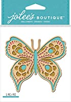 Jolee's Boutique Adhesive Laser-Cut Wood Embellishment-Butterfly
