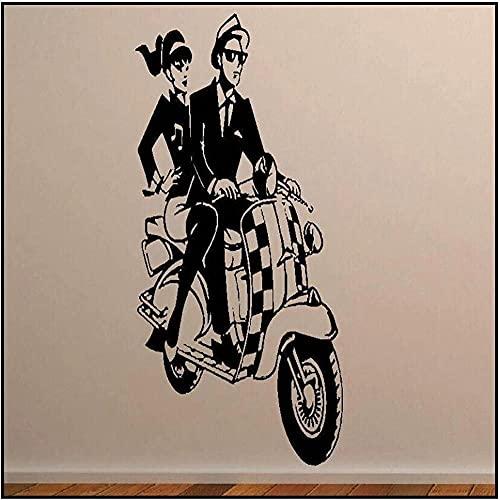 Etiqueta de la pared Art Decal Scooter Art Transfer Decoración del hogar 56X120Cm