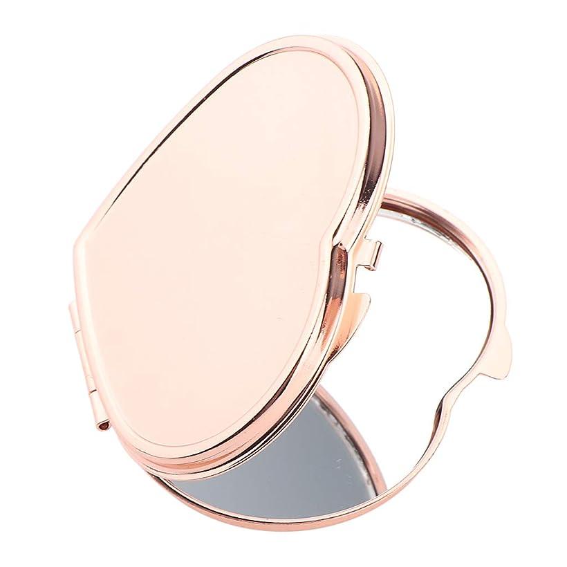 に変わる信頼性ベストSM SunniMix 化粧鏡 ハート型 ミニ ポータブル ポケット