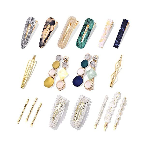 Beauty Shopping 20 Pcs Pearl Hair Clips – Cehomi Fashion Korean Style Pearls Hair Barrettes