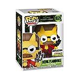 Pop! Animación: The Simpsons – Flanders du Diable, Brille en Le Negro, Exclusivo Amazon
