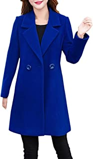 Ausexy Womens Cashmere-Like Thicker Jacket Coat Outwear Parka Cardigan Formal Elegant Slim Fashion Casual Daily Button Tops Overcoat Outwear Windbreaker Plus Size