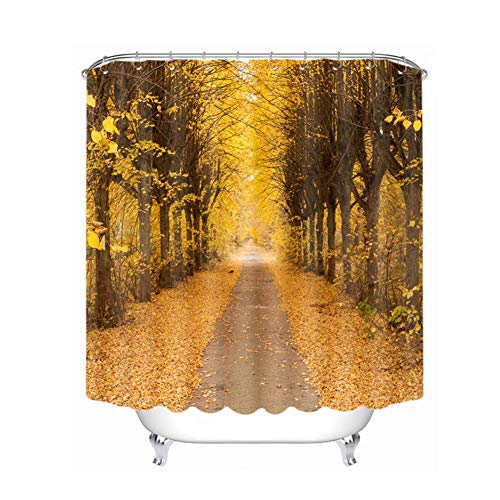 misshxh douchegordijn Alberato voor de douche, waterafstotend, geschikt voor thuis, Scuola, douchegordijn voor hotel 180 x 180 cm