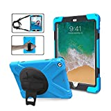 TSQ Case for iPad Mini 1/Mini 2/Mini 3 Released in 2012/2013/2014, 3-Layer Anti-Slip Drop Protection Defender Rubber iPad 7.9' Mini Cover for Children Students Teachers with Stand/Handle, SkyBlue