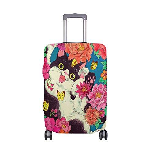My Daily Cat Butterfly Flower - Funda de equipaje para maleta de 18 a 32 pulgadas