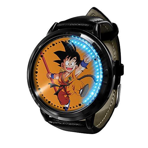 Anime Dragon Ball Z Goku Super Saiyan Series Reloj táctil LED Relojes novedosos Relojes Deportivos Reloj Personalizado Relojes Unisex Regalo de cumpleaños Edición de coleccionista-K