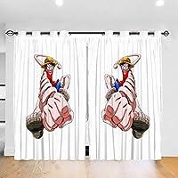ワンピース One Piece4 カーテン 1級遮光 2枚組 幅132cm丈183cm 断熱 防寒 防音 省エネ 厚手 寝室用 リビング用 カーテンセット 洗える 寝室 リビング用