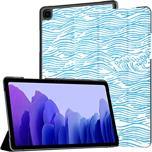 Great Blue Wave Samsung Tablet Case Galaxy Tab A7 10.4 Inch Case For Tablet Samsung Galaxy Tab A7 10.4 Case With Auto Wake/sleep Fit Tablet With Case For Galaxy Tab A7 Sm-t500/t505/t507