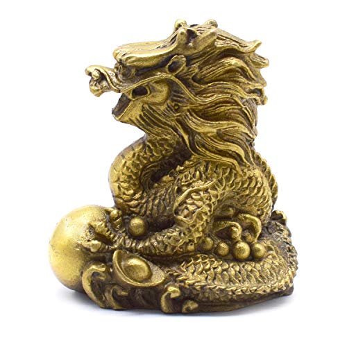 better us Chinese Feng Shui Dragon Brass Statue...