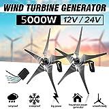 NAWS Generador de turbinas eólicas para el hogar de 5000 W, 12...