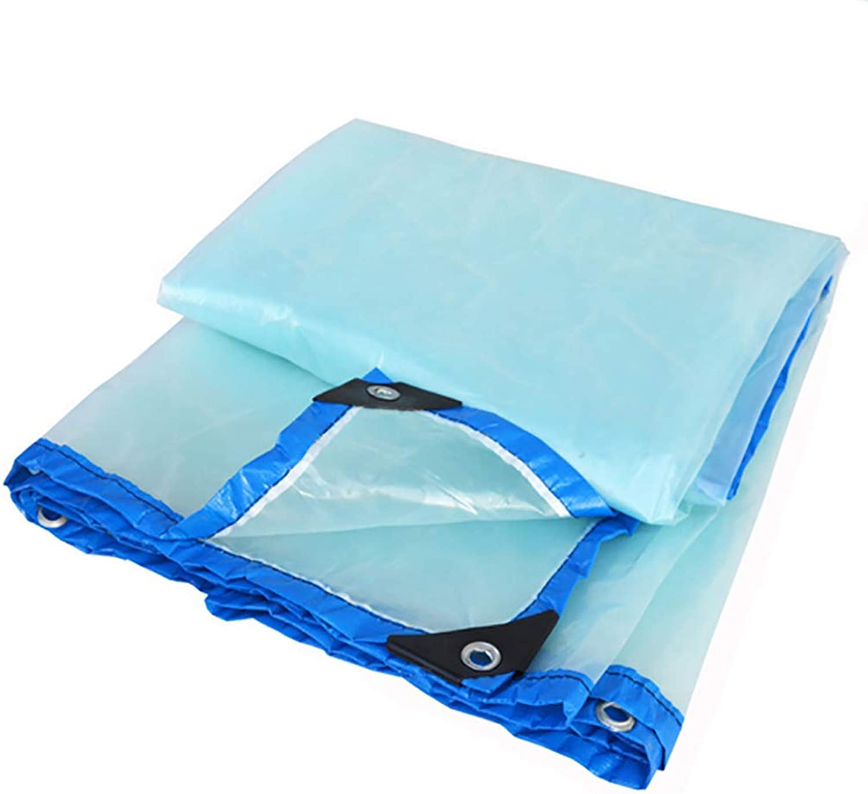 Xuanlindian Outdoor Tent Waterproof Transparent Tarpaulin Heavy Duty Waterproof Cloth with Perforated roof Windproof Cloth Tarpaulin
