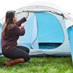 SAFACUS 4 Person Dome Camping Tent, Double layer, Full Waterproof Holiday Family Tent, Easy to Set Up for Outdoors Hiking Fishing Traveling Beach Vacation(Blue)