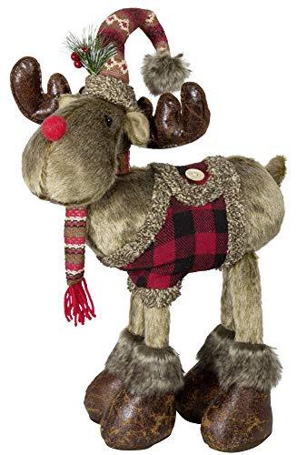 Christmas Paradise Winterlicher Deko Elch Rentier Weihnachtsdeko Größe 50cm