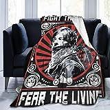 Bobbie McLendon The Walking Dead Pear The Living Flannel Couverture en Laine Polaire...