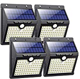 Solar Lights Outdoor, Feob [97 LED 4 Pack]Super Bright Motion Sensor Security Lights Wireless 3 Modes Wall Lights for Front Door, Yard, Garage, Deck, Pathway, Porch