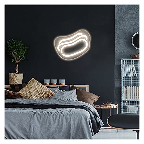 Luces de letreros de neón LED de perro caliente, decoración de arte de pared personalizada neón para el hogar, casa, habitación, iluminación, placa, aplique ( Color : Warm White , Size : 32 X36cm )